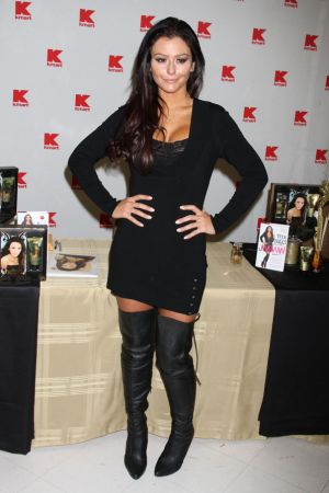 Jenni Farley promotes her new perfume JWOWW at Kmart in New York