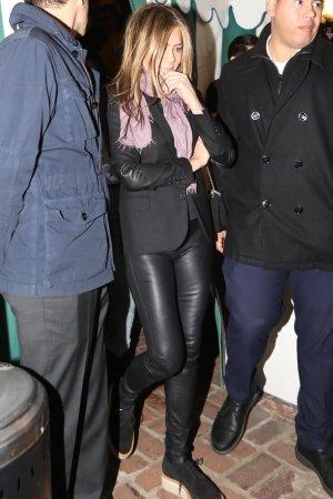 Jennifer Aniston leaving Sara Foster's Birthday party