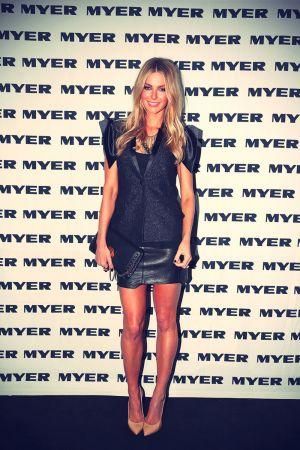Jennifer Hawkins attends 2013 Mercedes-Benz Fashion Week