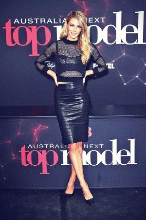Jennifer Hawkins poses at Australia's Next Top Model auditions