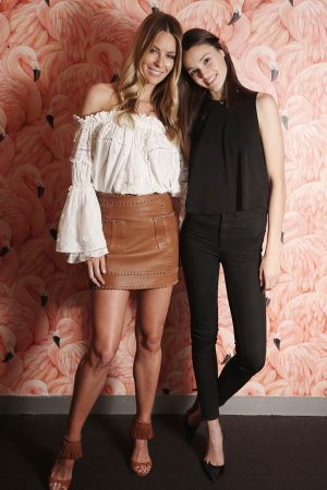 Jennifer Hawkins With Aleyna Fitzgerald during a photo shoot