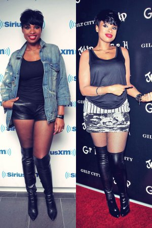Jennifer Hudson at her JHUD album launch party and at the SiriusXM Studio