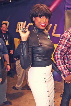 Jennifer Hudson attends Pepsi Super Bowl XLVII Pregame Show