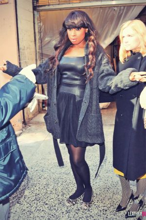 Jennifer Hudson heads into the NBC Studios