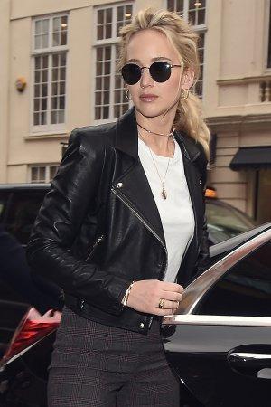 Jennifer Lawrence at her hotel