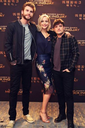 Jennifer Lawrence attends Mockingjay Part 2 press event