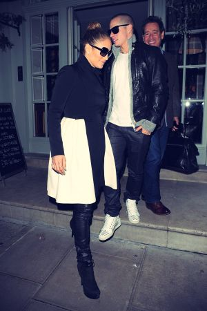 Jennifer Lopez and Casper Smart leave Charlotte Street hotel
