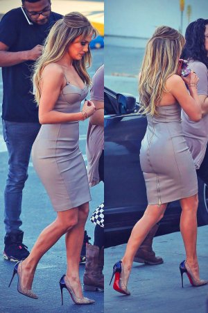 Jennifer Lopez at the American Idol studio