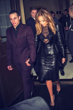 Jennifer Lopez seen with beau Casper Smart leaving her hotel