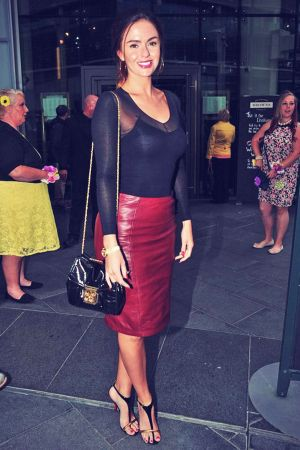 Jennifer Metcalfe, Carley Stenson, Sophie Austen, Bronagh Waugh arriving at Browns