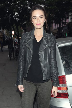 Jennifer Metcalfe out & about in London