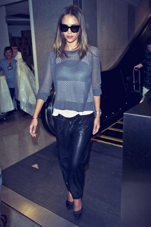 Jessica Alba at LAX Airport