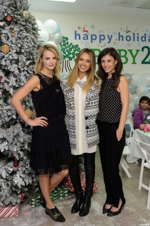 Jessica Alba attends Baby2Baby Holiday Party
