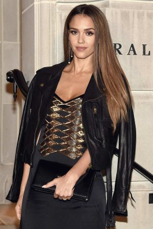 Jessica Alba attends Ralph Lauren fashion show