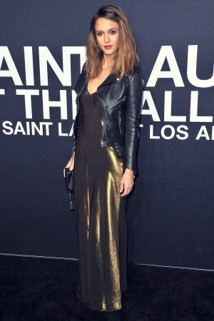 Jessica Alba attends Saint Laurent show