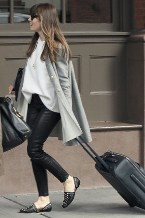 Jessica Biel arrives at JFK airport