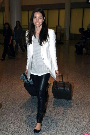 Jessica Biel At Toronto Airport
