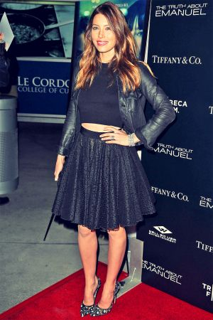 Jessica Biel attends The Truth About Emanuel Hollywood Premiere