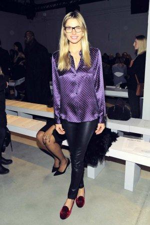 Jessica Hart attends New York Fashion Week