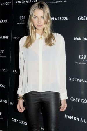 Jessica Hart attends The Cinema Society and Gilt Man with Grey Goose in NYC