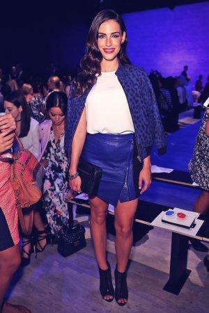 Jessica Lowndes attends Rebecca Minkoff during Mercedes-Benz Fashion Week