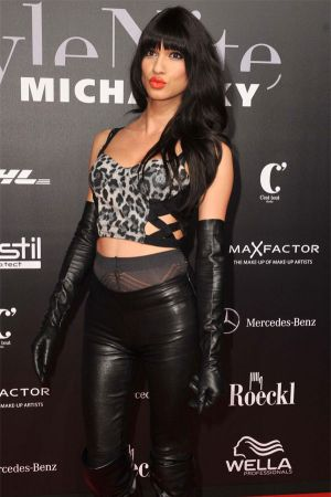 Jessica Six at Mercedes Benz Fashion Week