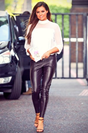 Jessica Wright seen leaving the ITV studios