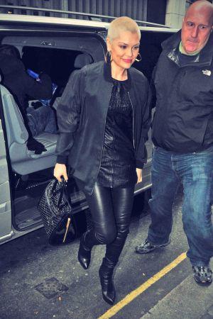 Jessie J arrives at the BBC Radio 1 studios on June 13, 2013.