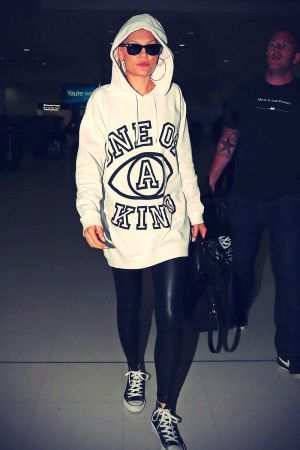 Jessie J arriving at Australia's Sydney International Airport