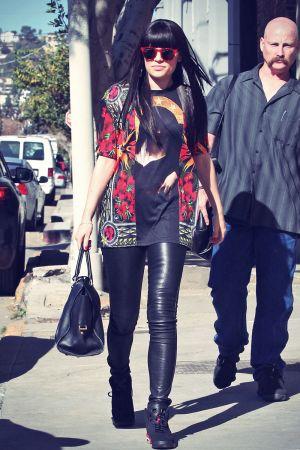 Jessie J heads into a studio in LA