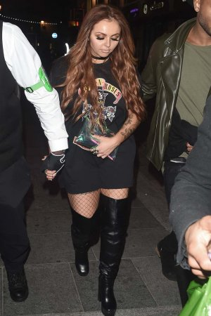 Jesy Nelson of Little Mix seen leaving Cirque Nightclub