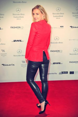 Jette Joop attends Dimitri Fashion Show at Mercedes-Benz Fashion Week