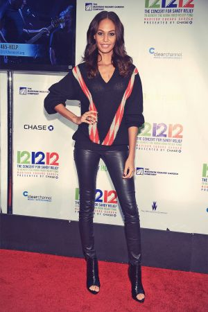 Joan Smalls attends a Concert benefiting The Robin Hood Relief Fund