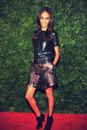 Joan Smalls attends HBO's In Vogue: The Editor's Eye screening