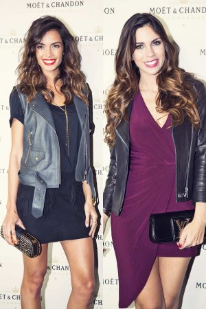 Joana Sanz and Melissa Jimenez attend Moet & Chandon Party