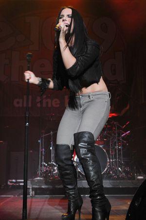 """Joanna """"Jojo"""" Levesque at 2011 Jingle Ball"""
