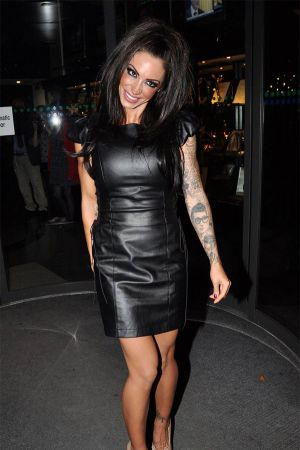 Jodie Marsh arrives at RTE studios The Late Late Show