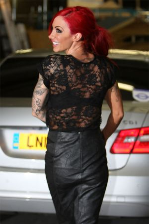 Jodie Marsh arriving at London Studios