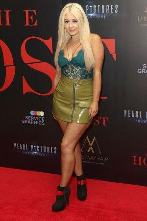 Jodie Weston attends London Premiere of The Host