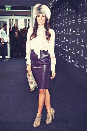 Johanna Klum attends Mercedes-Benz Fashion Week Berlin 2013