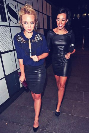 Jorgie Porter and Stephanie Davis night out at The Neighbourhood Bar & Restaurant
