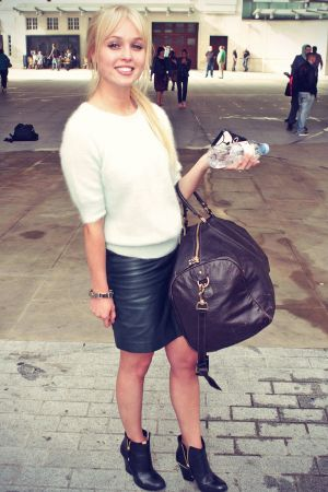 Jorgie Porter at Radio 1 Studio