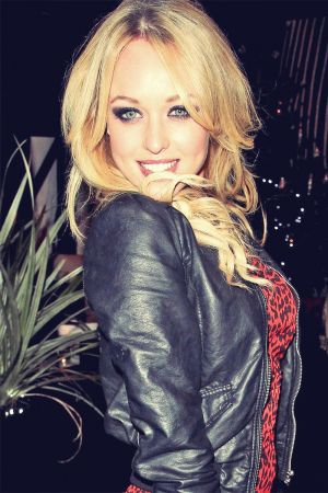Jorgie Porter at the Christmas party for Cricket Boutique