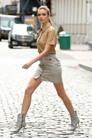 Josephine Skriver attending Maybelline Photoshoot New York City