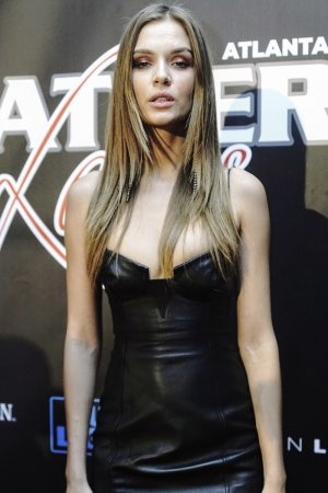 Josephine Skriver attends 16th annual Super Bowl Leather & Laces Party