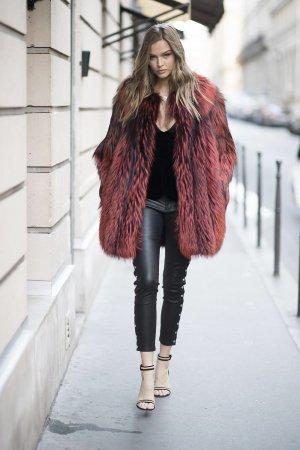 Josephine Skriver is seen outside her hotel