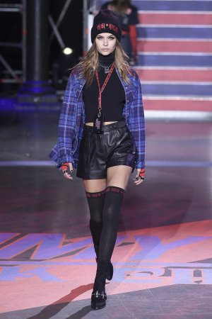 Josephine Skriver on the Tommy Hilfiger track
