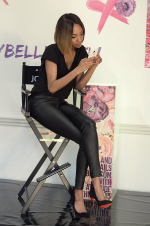 Jourdan Dunn at LFW with Maybelline New York press event