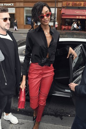 Jourdan Dunn attends Balmain show