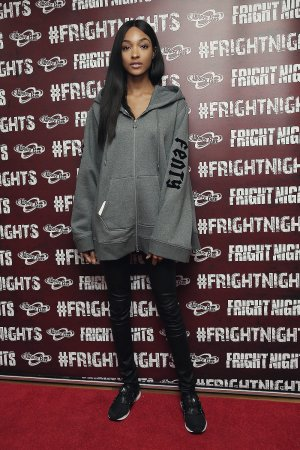 Jourdan Dunn attends the launch of Thorpe Park's Fright Nights